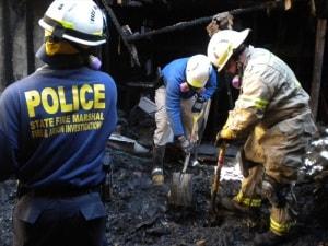 Fire Investigators Scene Dig
